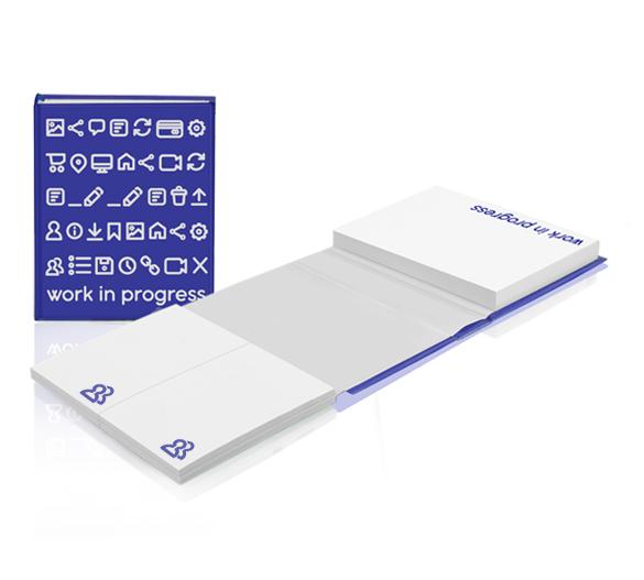 PM119 Set di blocchi adesivi in copertina rigida