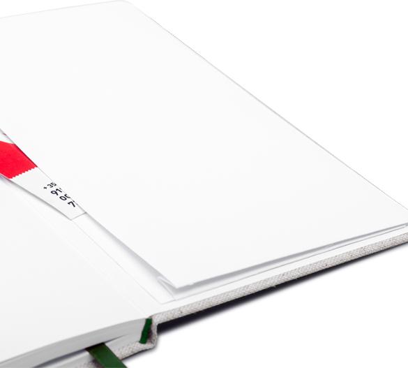 MN33 Mindnotes in copertina rigida da tessuti Lino color, Lino nature