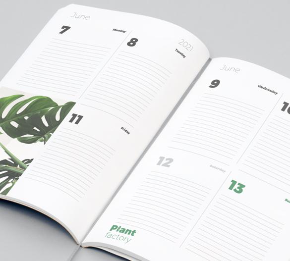 layout del calendario individuale