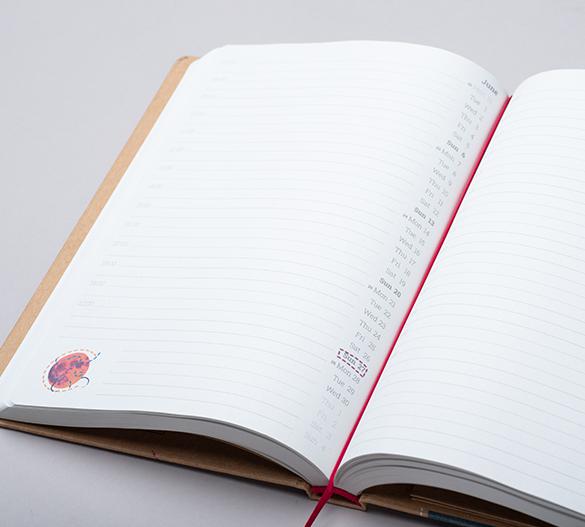 MN36-CAL Mindnotes® agenda in copertina rigida in KRAFT carta